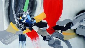 """Alteration, acrylic on canvas, 24""""x 48"""""""