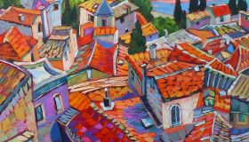 "Provence Rooftops, 24""x 30"" Available"