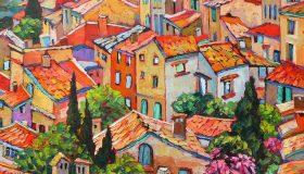 """Provence Time, oil on canvas, 24""""x 30"""", SOLD"""
