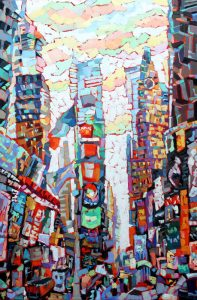 "Times Square, oil on canvas, 24""x 36"""