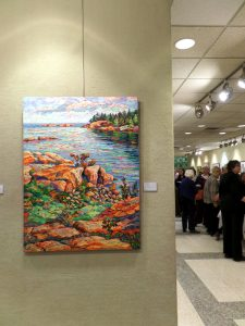 My painting on display at Etobicoke Civic Centre Art Gallery