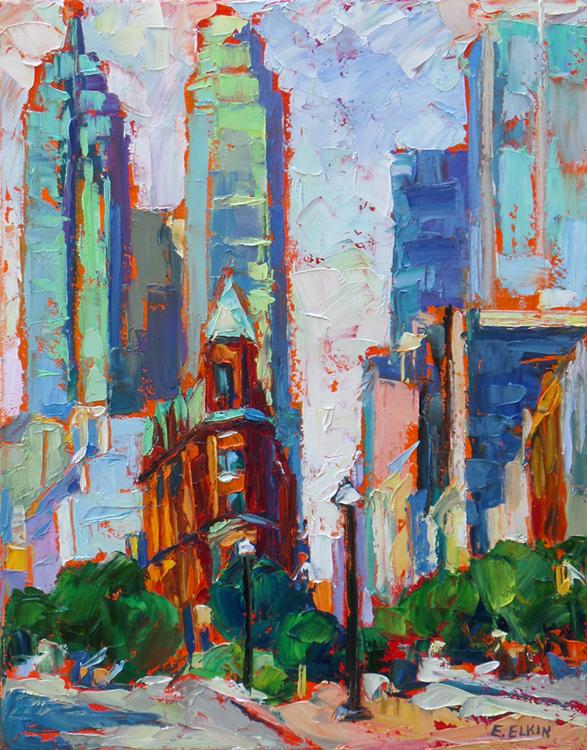 Toronto scene, oil on canvas