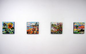My paintings on display