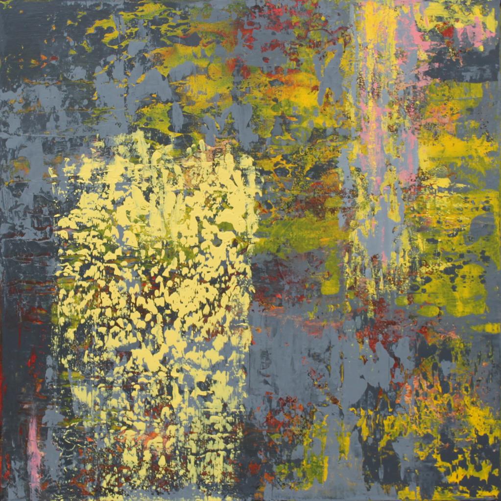 "Reflection, acrylic on canvas, 20""x 20"""